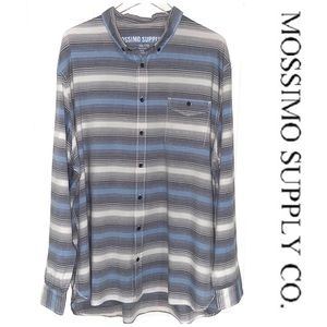 🎉MOSSIMO STRIPED BUTTON-DOWN LONG SLEEVE SHIRT